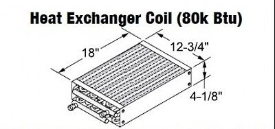 Central Boiler Heat Exchanger Coil 80k Btu