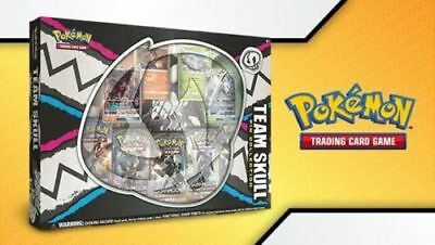 Team Skull Pin Collection Box Pokemon Tcg Sun Moon Gx Burning In Stock Now