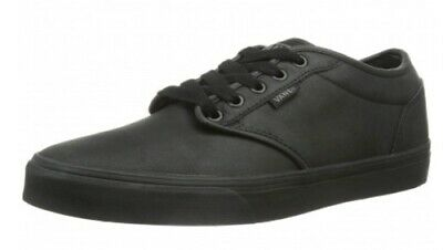 Vans Atwood (Triple) Leather Black Mens, leather pumps, trainer, back to school,