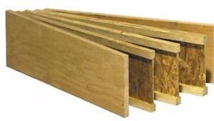 Poutrelles de plancher, solive, madrier - 9 1/2 - 12 et 14 pi