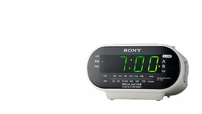 Sony ICF-C318 Automatic Time Set Clock Radio with Dual Alarm (White)