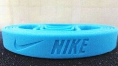 Nike turquoise neon blue Baller band rubber bracelet wristband unisex BEST (Best Band Silicones)