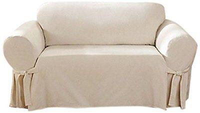 Cotton Loveseat - SureFit Cotton Duck - Loveseat Slipcover  - Natural SF26807
