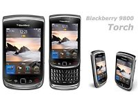 Blackberry Torch 9800 Mobile phone, No Lock (Discontinued by Manufacturer) - Black