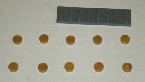 New LEGO Lot of 2 Pearl Gold 2x2 Tile Pieces from 79108