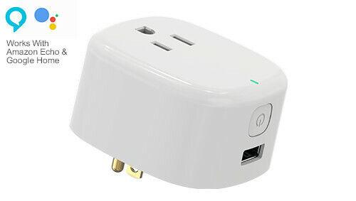 Smart Wifi Plug Lot USB Port UL Listed WiFi Outlet Socket Compatible Alexa 1-10