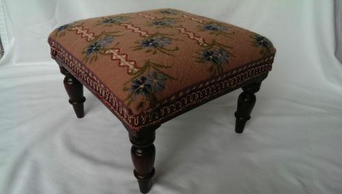 Tapestry Footstool Ebay