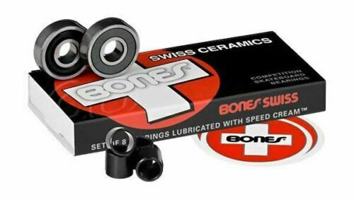 Bones Bearings - Swiss Ceramics Bearings  ( 8 pack )  608 8 mm - Fast shipping
