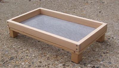 """X-Large 20"""" Cedar Platform Ground Bird Feeder w/ Screen"""