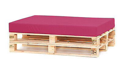 Pink Water Resistant Cover & Foam Seat Cushion Pallet Seating Garden Furniture