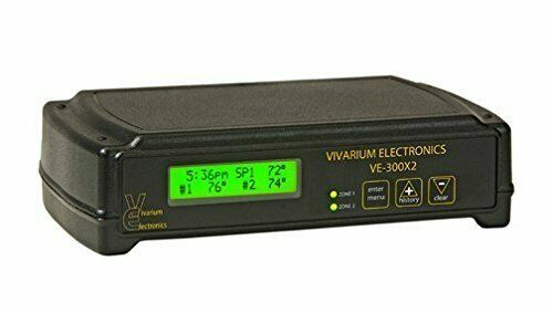 Vivarium Electronics VE-300X2 Thermostat Bearded Dragon Crested Gecko Reptile...
