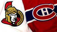 4 BILLETS / 4 TICKETS OTTAWA VS CANADIENS SECTION 408 A