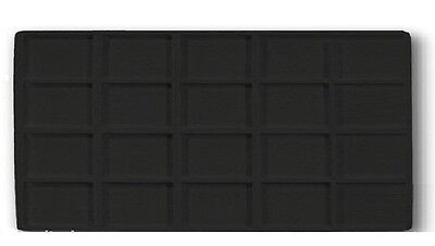 New 4 Black 20 Space Jewelry Display Tray Liners Inserts