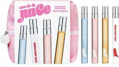 Eau de Juice 4 piece fragrance collection Travel Spray Set New with -