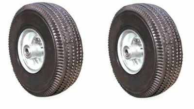 Two New Pneumatic Hand Truck Air Tires 10 X 3-12 Wheel With 58 Id 4.103.50