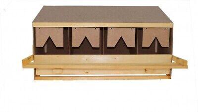 Legenest aus Holz mit 4 Legebuchten OBERTEIL -  für große Hühnerrassen Nr.41295