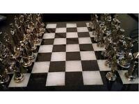 Vintage Medieval Chess Set Pieces