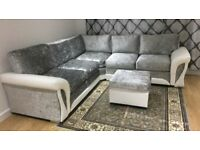 Scs New glitz corner sofa with FREE FOOTSTOOL