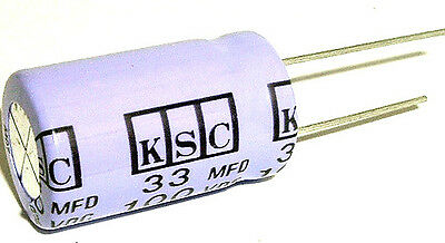 33uf 100v Non Polar Radial Electrolytic Capacitors 10