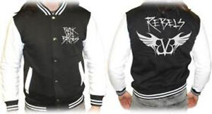 BLACK VEIL BRIDES REBELS (VARSITY) MENS BASEBALL JACKET SMALL NEW OFFICAL