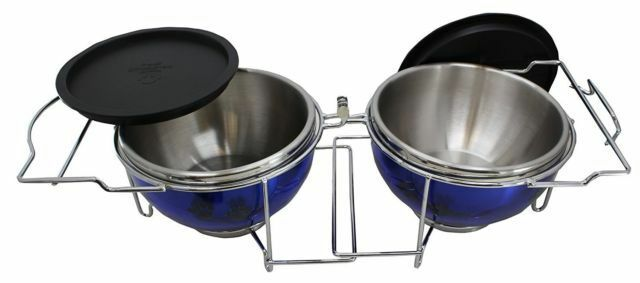 TRAVEL - PORTABLE PET FOOD BOWLS  BLUE. FOLDABLE AND DURABLE FOR PETS ON THE GO!