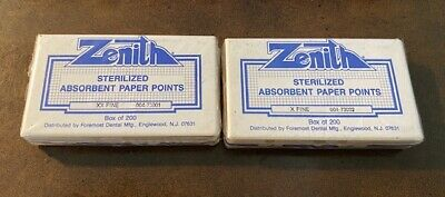 Absorbent Paper Points Qty 200box Xf And Xxf Zenith Dental