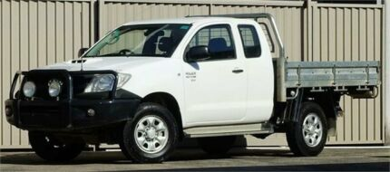 2011 Toyota Hilux KUN26R MY11 Upgrade SR (4x4) White 5 Speed Manual X Cab Cab Chassis Lismore Lismore Area Preview