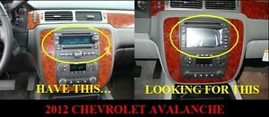 Avalanche factory touch screen radio
