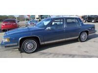 Cadillac Deville 1989, 4 door, blue, 4.5 Auto, V8