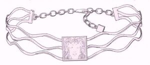 Lalique : Masque de Femme Necklace - choker Silver  -HALLMARKED- SIMPLY LUXURY
