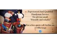 Experienced And Qualified Handyman Service.