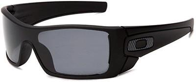 New Oakley BATWOLF POLARIZED Shield Sunglasses Matte Black/Gray 9101-04