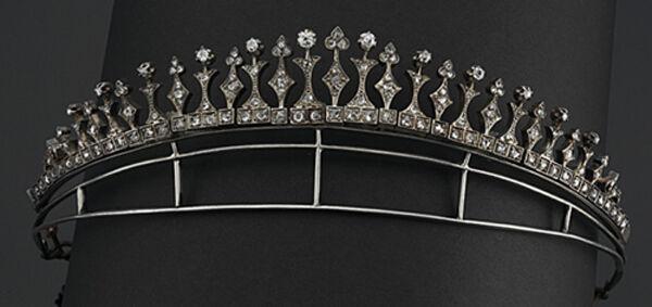 Vintage 9.70cts Genuine Pave Rose Cut Diamond Silver Wedding Crown Tiara Jewelry