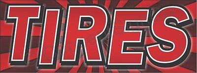 1.5x4 Tires Banner Outdoor Indoor Sign Sale Rims Wheels Auto Repair Used New