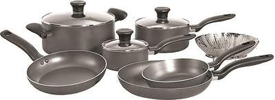 T-Fal Initiatives 10-piece Cookware Set, Model A821SA94, Gre