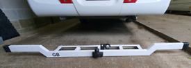 Motorhome Towbar, including towball & electric socket mount.