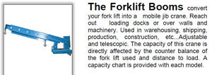 FORKLIFT BOOM CRANE. FORK LIFT JIB BOOMS. IN STOCK & LOW PRICING London Ontario image 2