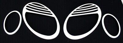 Scheinwerferblenden Weiss für Mercedes W211 E Klasse Bj.2002-2005