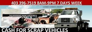 Scrap Vehicle removal 7 days a week 403 396-1157
