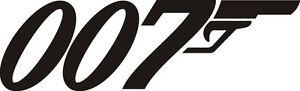 James Bond 007 Logo Car, Van, Laptop, Scooter Vinyl Decal Sticker
