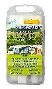 Stormsure Caravan Awning Tent Waterproof Repair Kit - Fixes rips, leaks & splits