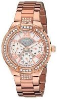 GUESS Women's U0111L3 Sparkling Hi-Energy Mid-Size Rose Gold
