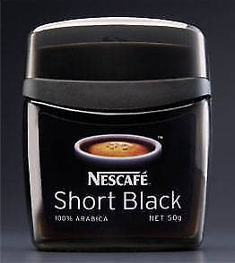WANTED Nescafe Short Black 50g Glass Coffee Storage Jar Container