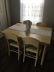 FS Wooden table & 4 Chairs