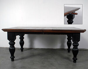 Distressed Black Farmhouse Dining Table French Country 108 5 034 Long