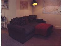 Small 2 seater corner sofa FREE - 1 broken foot (back right)