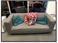 A Grey Kipplan Ikea sofa. Width 80cm, Depth 88cm, Height 66cm.