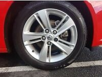 """Insignia B 17"""" 5 Double Spoke Alloy Wheels with Tyres"""