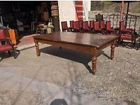 Huge victorian mahogany table