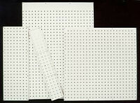 6 Different Sized Pegwall -Peg Board Sheets in White or Brown